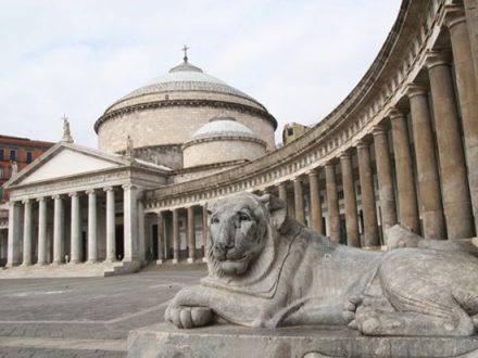 Vista di Piazza Plebiscito a Napoli